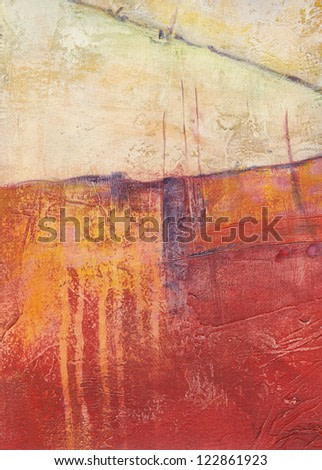 Textured abstract painting. Handpainted grunge background.
