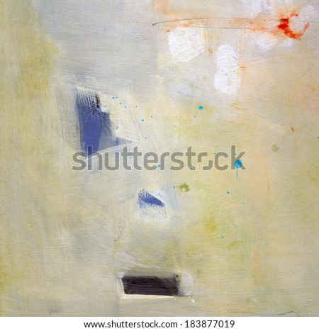 Abstract grunge background - brush strokes on paper with space for text.
