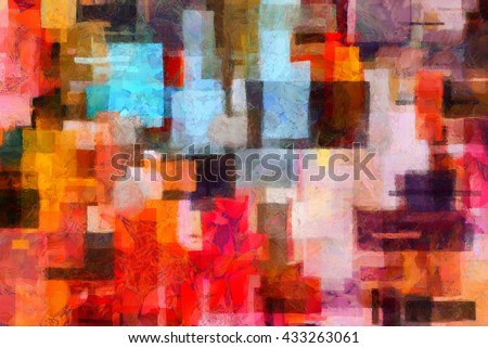 Colorful abstract painting in artistic style