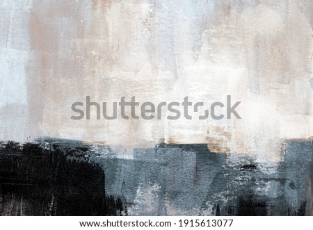 Hand painted landscape. Contemporary abstract art. Versatile image can apply to a wide range of creative design projects: posters, banners, cards, websites, wallpapers, magazines.