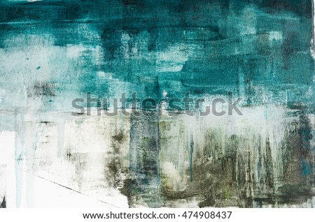 Abstract art painting. Watercolor drips. Grunge texture.