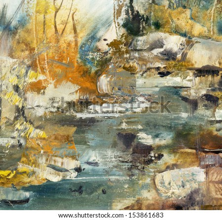 Abstract Art, oil painting bacground