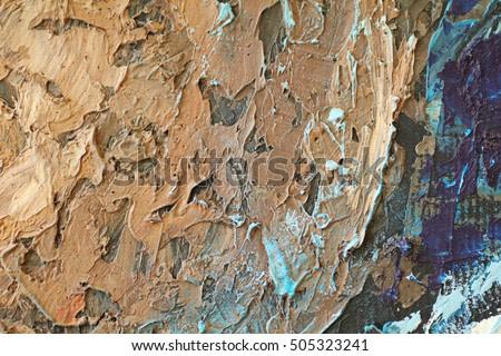 Oil painting texture abstract water ground