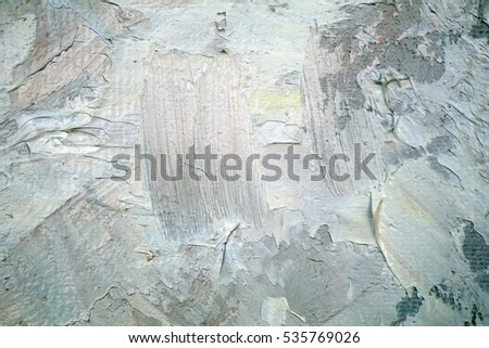 Oil Painting closeup texture background with  blue gray white colors vivid colorful creative detailed vibrant brush strokes