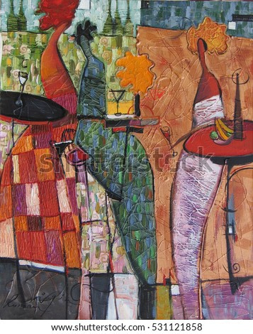 oil painting, author Roman Nogin. woman figure abstract. looking for partnerships with artdillers - contact facebook