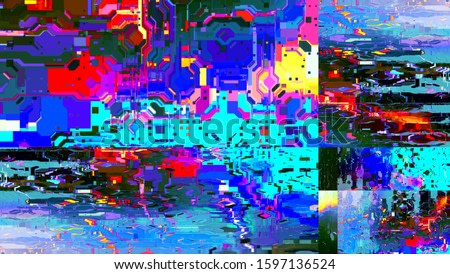 Digital effects. Multicolor abstract background. Colorful pattern. Creative graphic design for poster, brochure, flyer and card. Unique wallpaper.  Backdrop for web, fabric and notepad cover.