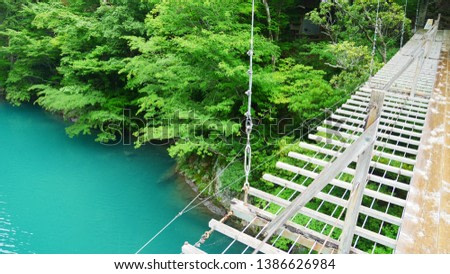The Nature and Blue water and the bridge