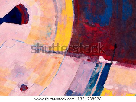 Oil painting on canvas handmade. Colorful texture.Brushstrokes.