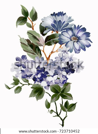 Graceful flowers, the leaves and flowers art design