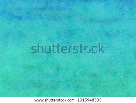 Blue green turquoise teal abstract watercolor background
