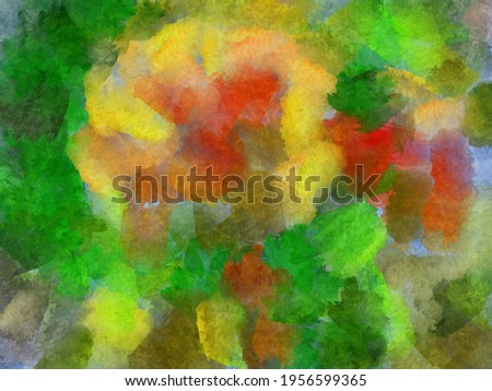 green watercolor soft painting background