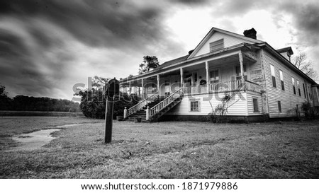 Fine art photo - Haunted house in the Mississippi Delta sits abandoned in this long exposure photograph
