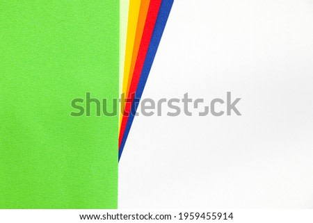 A closeup shot of colorful paper for background and wallpaper