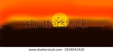 Evening scenery paintings Warm colors for decoration