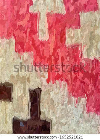 abstract art red cream master watercolor background painting wallpaper