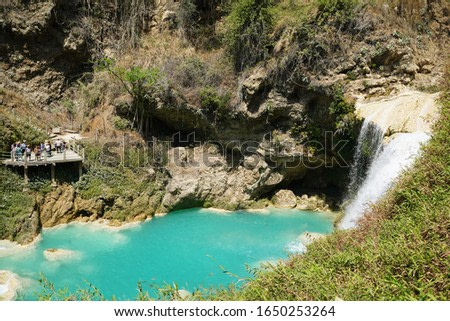 Images of the Veil of Bride waterfall in Chiapas Mexico