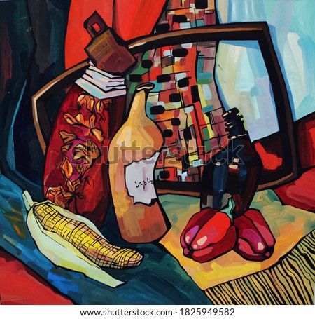 Colorful painting beauty still life