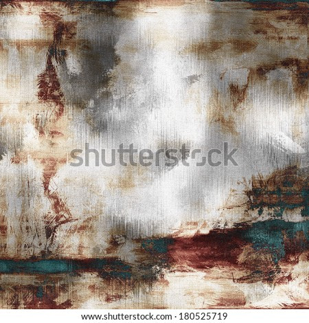 art abstract acrylic background in white, grey, brown, purple and green-blue colors