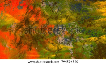 Oil painting on wall canvas. Abstract texture. Colorful. Strokes of paint.