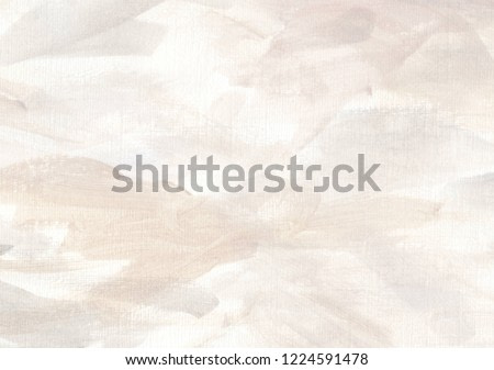 Elegant and soft abstract artistic background. Expressive hand painted backdrop with delicate pastel desaturated colors. Stylish feminine light winter neutral art background. Watercolor abstraction.