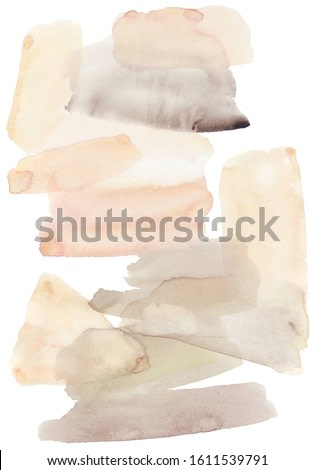 Feminine elegant abstract watercolor art print. Soft dreamy background wash. Poster or card backdrop. Stylish modern pastel neutral tone colors. Expressive painting and texture. Fashion backdrop.