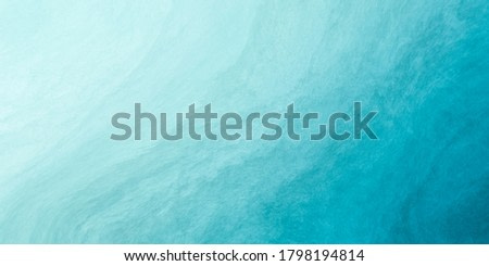 Watercolor paint background by soft pastel tone blue green with liquid fluid texture for background, banner