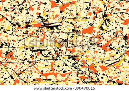 Abstract expressionism pattern. style of drip painting. Vector Illustration