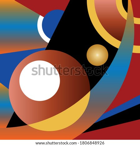 Creative abstract geometric background.EPS10 Illustration.