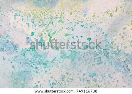 Oil painting abstract. Blue and white background. High resolution photo.