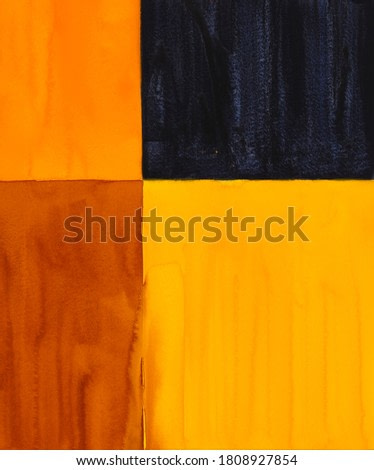 A minimalist abstract painting; textured blocks of watercolor, with some breakdown of edges.