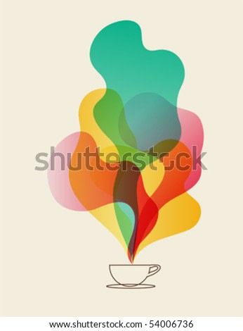 Coffee aroma dreams - cup of coffee vector eps10