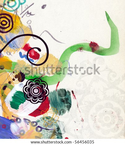 abstract background, color painted graffiti