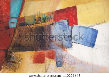 Earthy abstract background. Textured, hand painted.