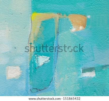 Abstract grunge background - brush strokes on paper