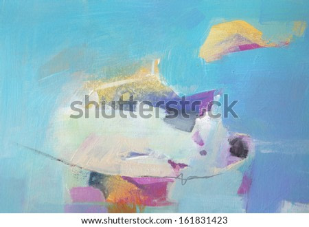 Abstract pastel grunge background - brush strokes on paper with space for text