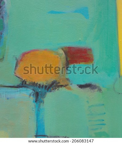 Hand painted abstract grunge background - brush strokes on paper with space for text.