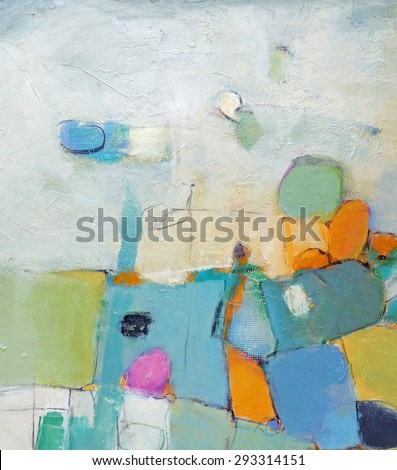 Hand painted abstract grunge background - brush strokes on paper with space for text. Textured background.