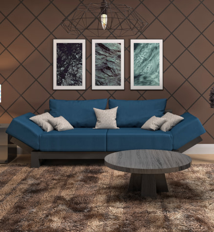 Glam style canvas and paper wall art prints