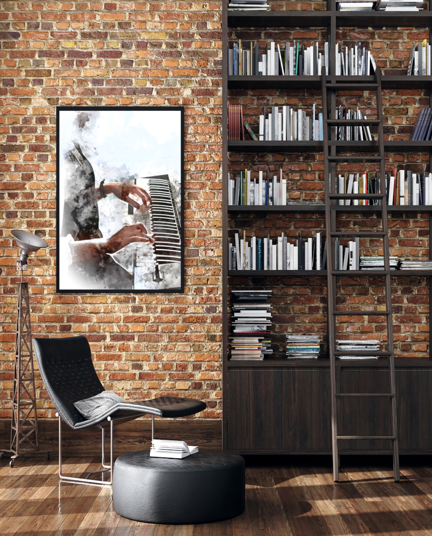 Industrial style canvas and paper wall art prints