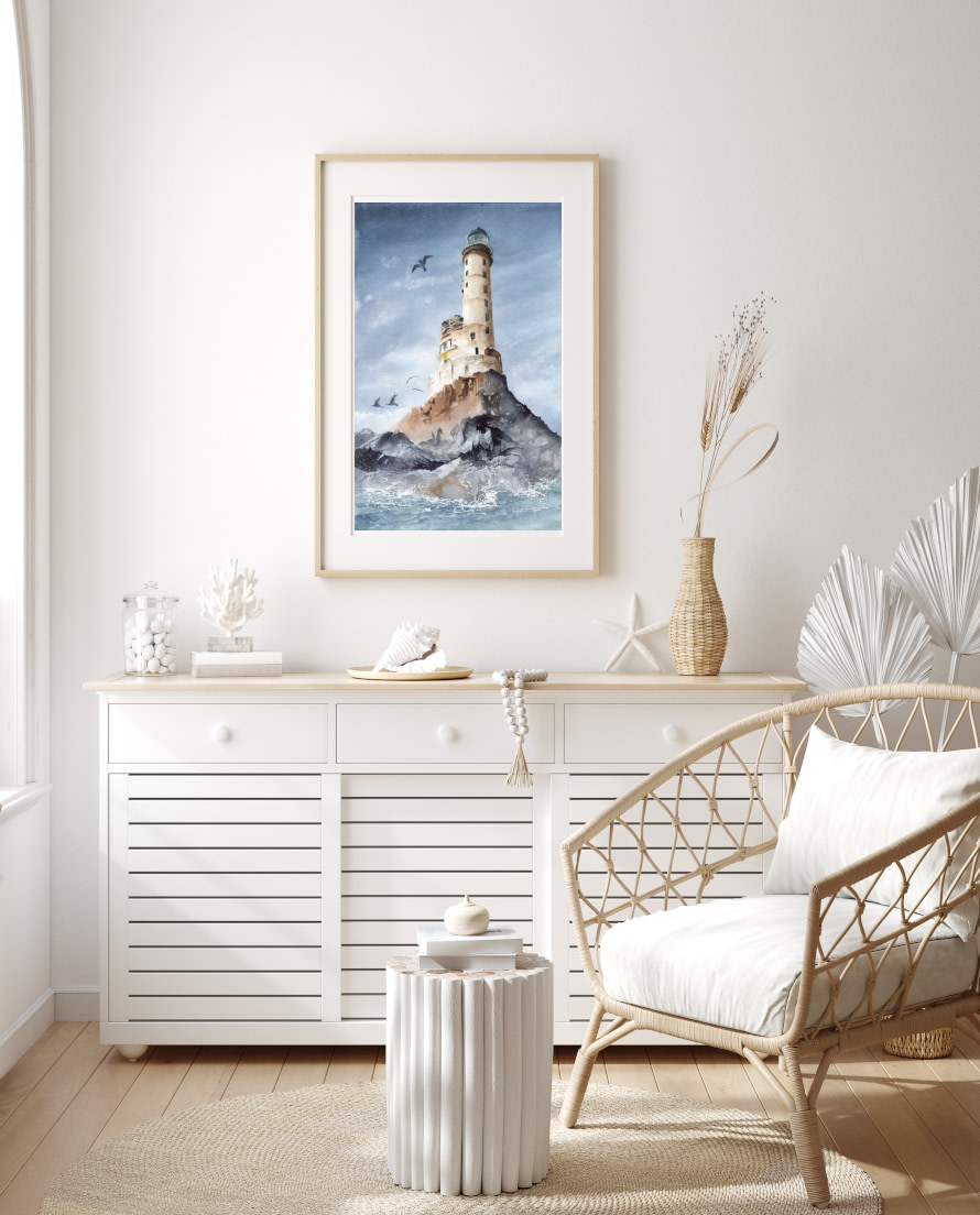 Coastal beach style canvas and paper wall art prints