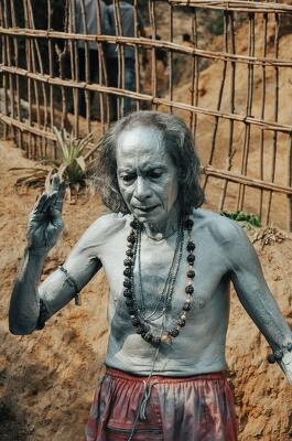 Body paint of Indian monk
