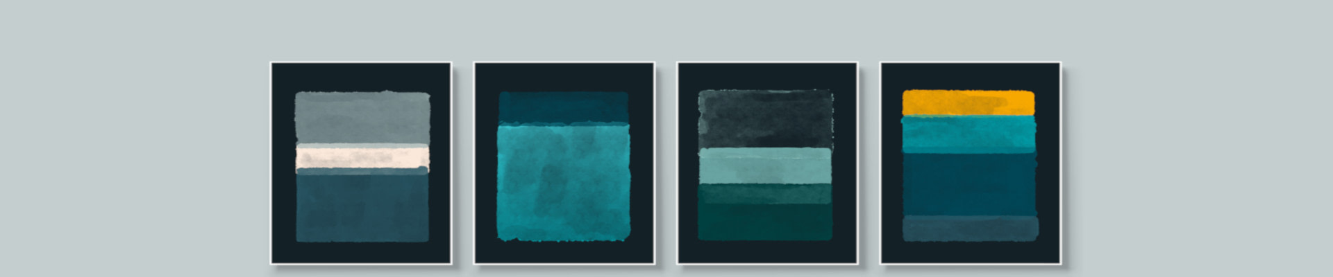 Teal wall art canvas and paper prints