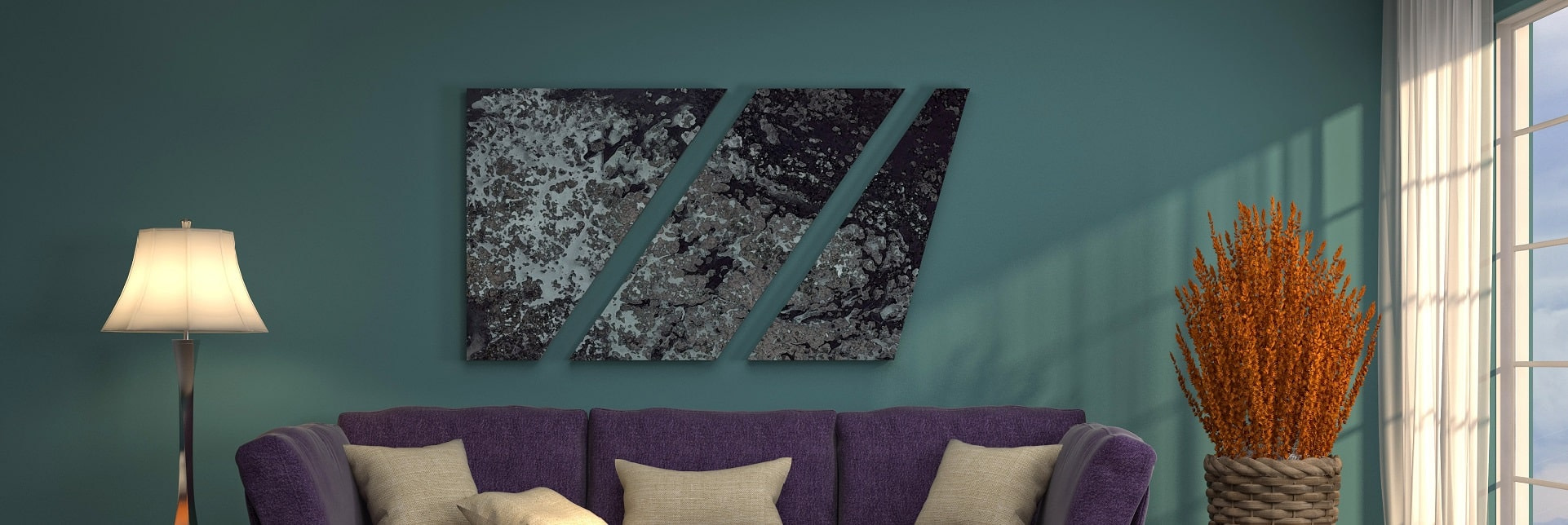 Custom Shaped Stretched Canvas Services for Interior Designers