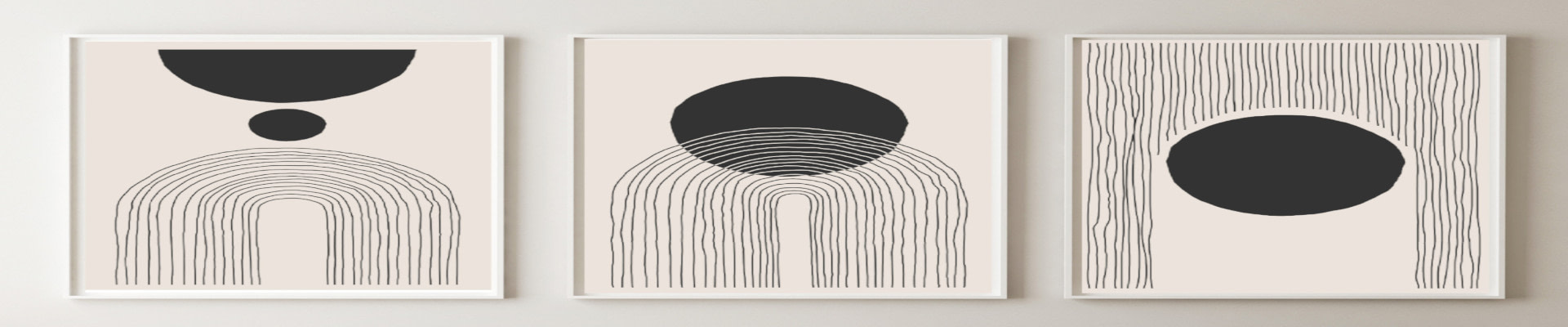 Minimalist style canvas and paper wall art prints