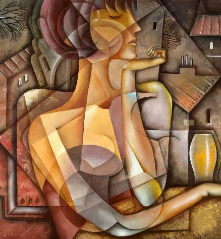 Cubist canvas and paper wall art prints