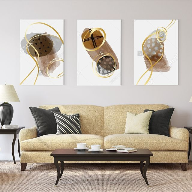 Decorating with Abstract 3-Panel Triptych Wall Art Prints