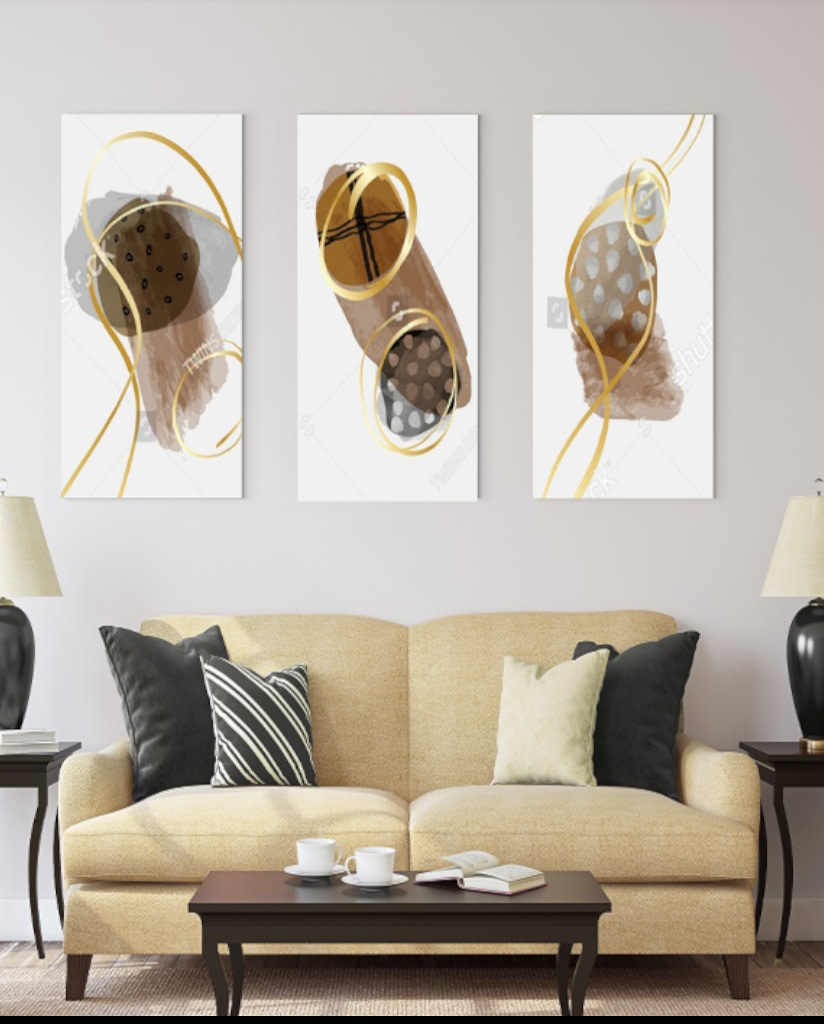 triptych 3 panel canvas and paper wall art prints