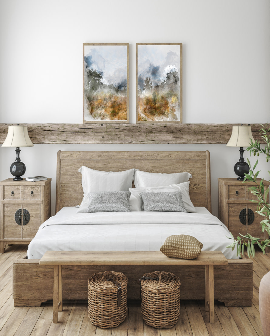 Farmhouse style canvas and paper wall art prints
